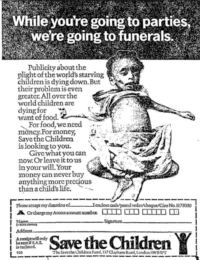 Save The Children. 12 December, 197512 December, Charity Ads