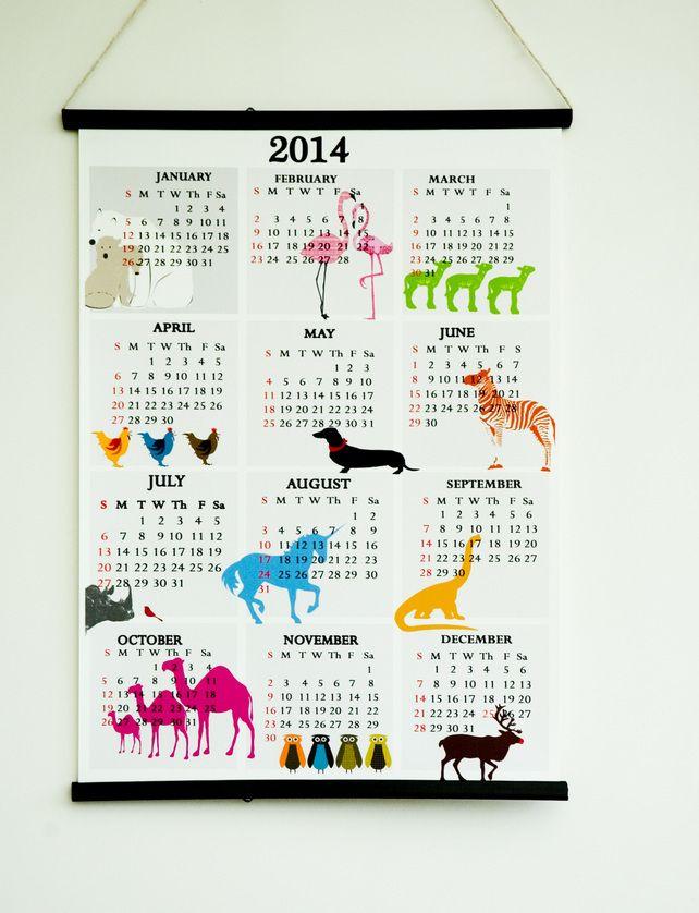 Nursery Calendar Ideas : Calendars journals diaries by folksy products