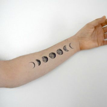 Moon phases, Moon phase tattoo and Tattoo neck on Pinterest