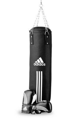 Adidas Performance Set: Boxsack und Boxhandschuhe