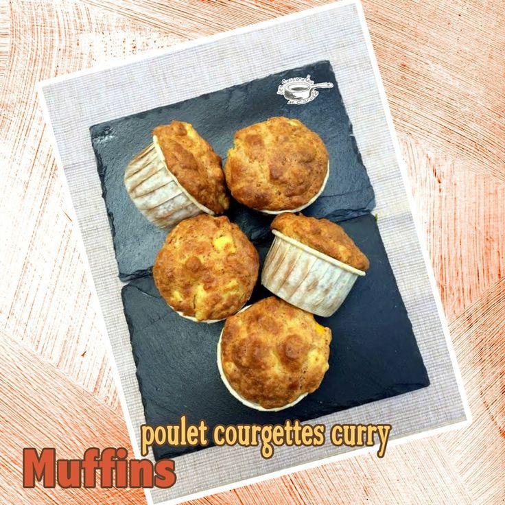 Muffins salés au poulet aux courgettes