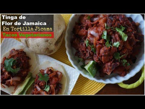 Tinga de Flor de Jamaica en Tortilla Jicama. Receta Vegetariana Saludable - YouTube