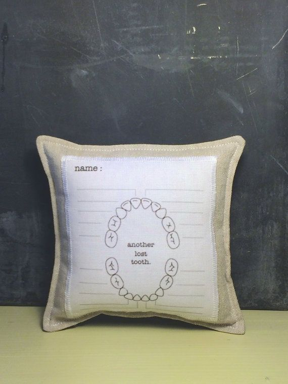 TOOTH fairy pillow personalized with chart. . handmade door looploft