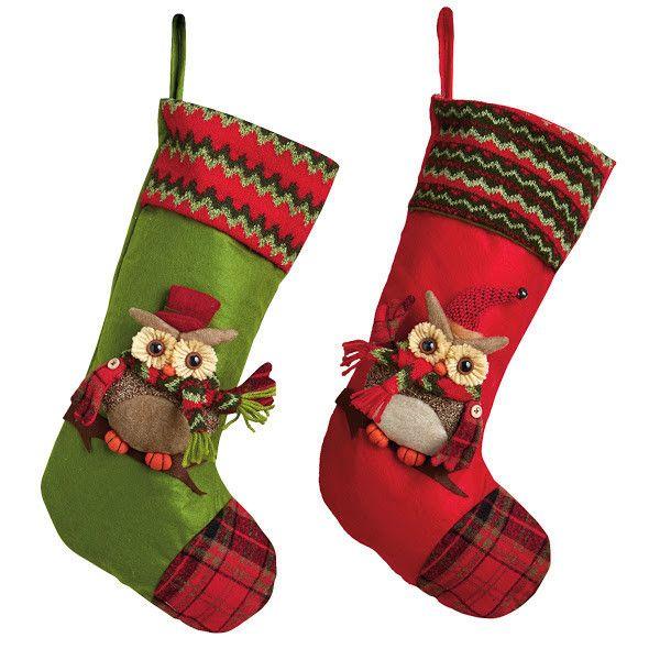 Owls Christmas Stocking