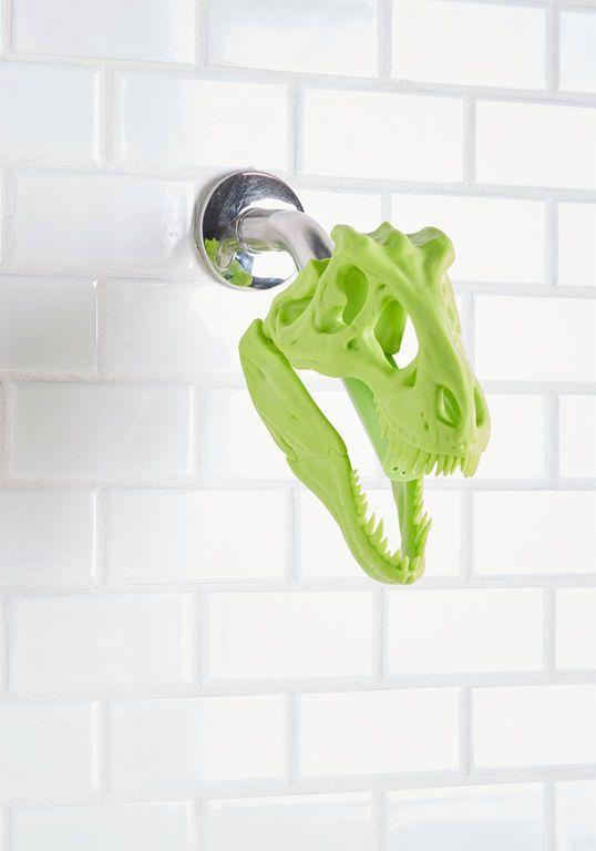 So Rex And So Clean Dinosaur Shower Head Rjs Bedroom And Bathroom In 2019 Shower Heads Bathroom Green Bathroom Accessories