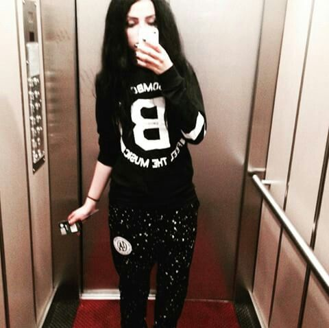 #black #long #hair #black #outfit