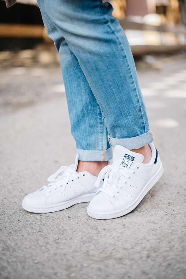 the latest e0857 301a3 ... Now Trending How to Style Stan Smiths Sneakers — bows sequins adidas  Originals ...