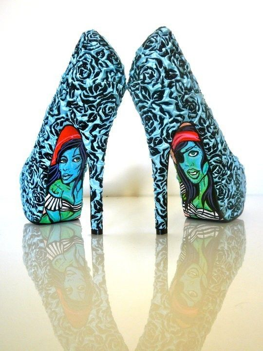 Love these shoes by TaylorSays on Etsy: Taylors Reeves, Tattoo Rose, Color, Old Schools Tattoo, Blue Rose, Unique Shoes, Creative Shoes, High Heels, Shoes Art