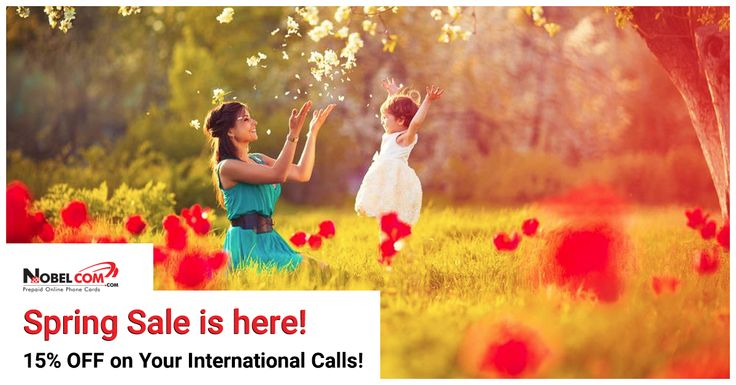 SPRING SALE from NobelCom: 15% OFF on your International Calls w/ promo code FLOWER15! http://bit.ly/1U4NrS5