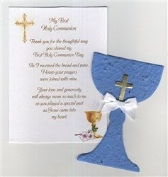 Lrg Med Blue Chalice First Holy Communion Party Favor on Etsy, $2.50