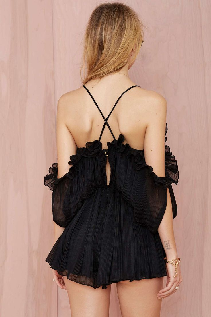 Alice McCall At First Sight Pleated Chiffon Romper | Shop Clothes at Nasty Gal