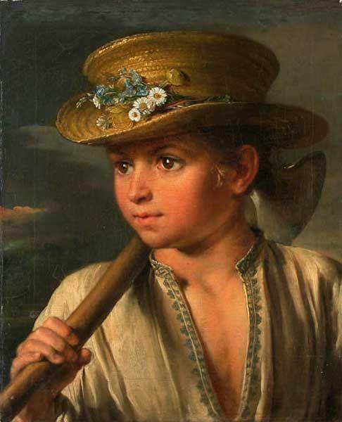 Тропинин Василий Андреевич  Мальчик с топориком, 1810-е гг