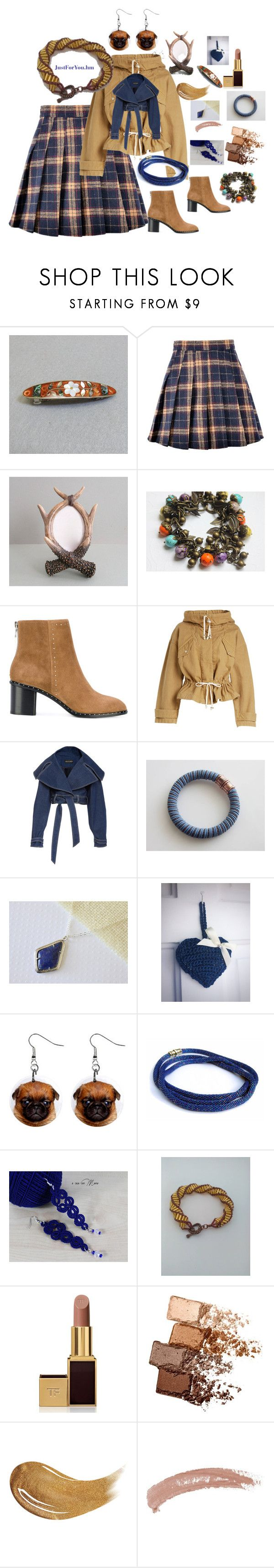 """Gift ideas"" by justforyouhm ❤ liked on Polyvore featuring rag & bone, Étoile Isabel Marant, Cadeau, Tom Ford, Maybelline, Too Faced Cosmetics and Topshop"