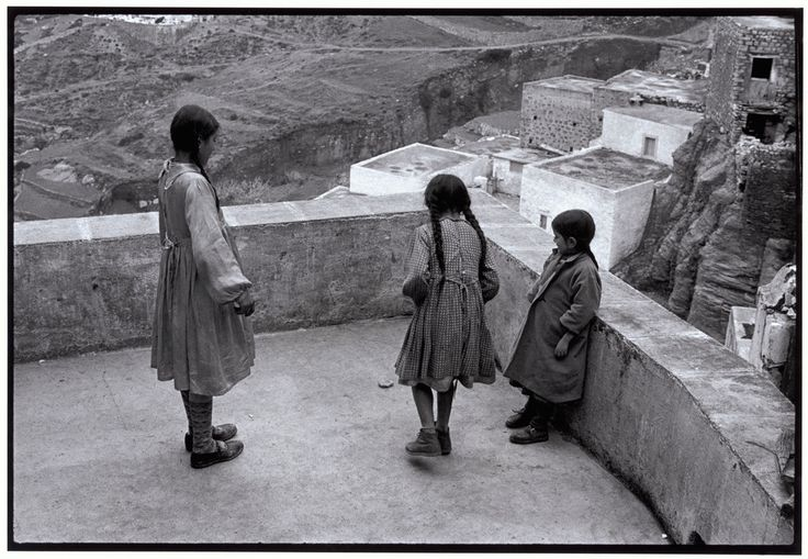 "Constantine Manos  View profile    Greece. Karpathos. Olympos. 1964. Hopscotch on a rooftop. ""A Greek Portfolio"" p.9 © Costa Manos/Magnum Photos"
