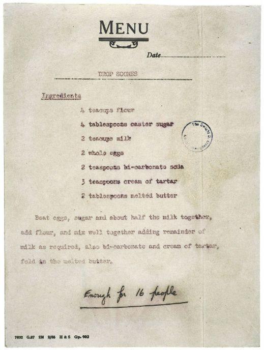Queen Elizabeth's Recipe for Scones