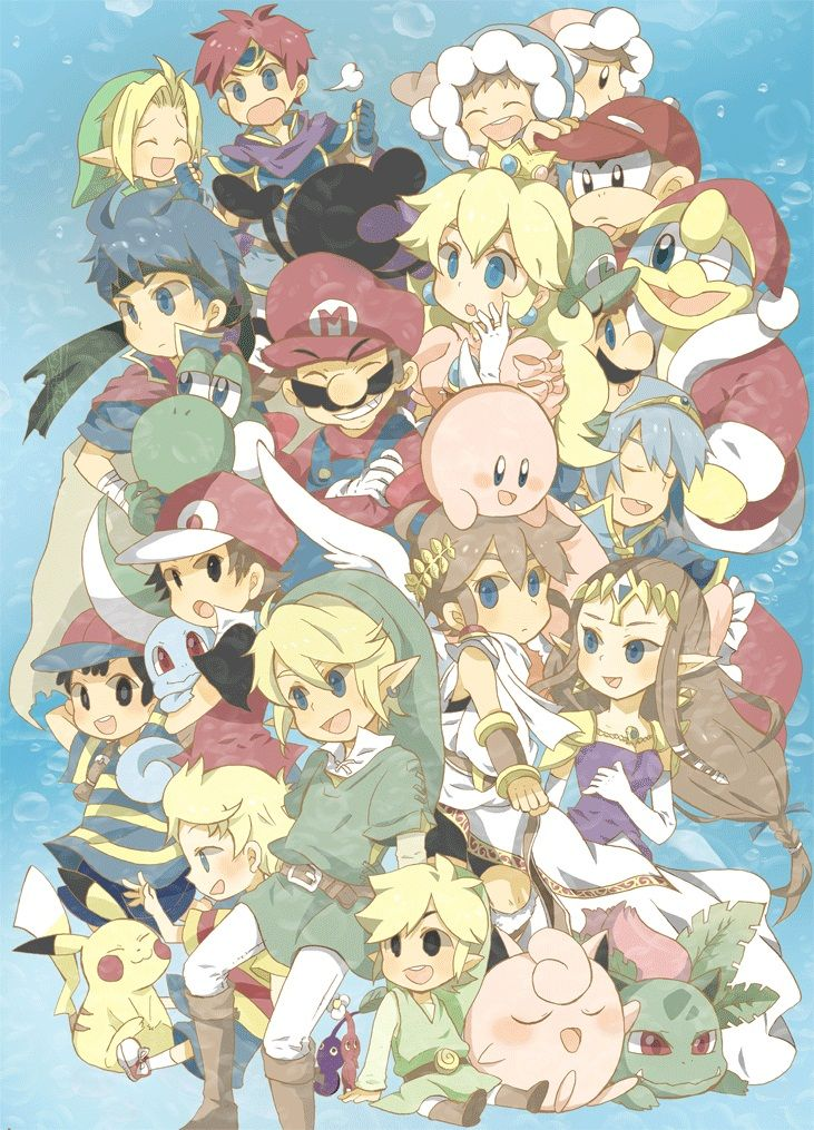 A Very Anime Like Design For All Of The Smash Bros Characters Attention