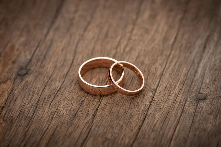 We absolutely love these rose gold wedding bands. By The Rolling Mill, Wellington, New Zealand