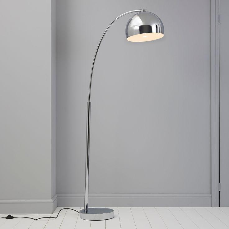 Fresh Silver Chrome Effect Floor Lamp   Departments   DIY at B&Q