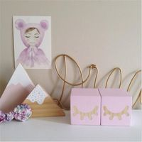 Baby Crib Toys 2PC Wooden Block Decoration For Baby Room Non-toxic photography Unique Painting Original Ornament Cute Decorative