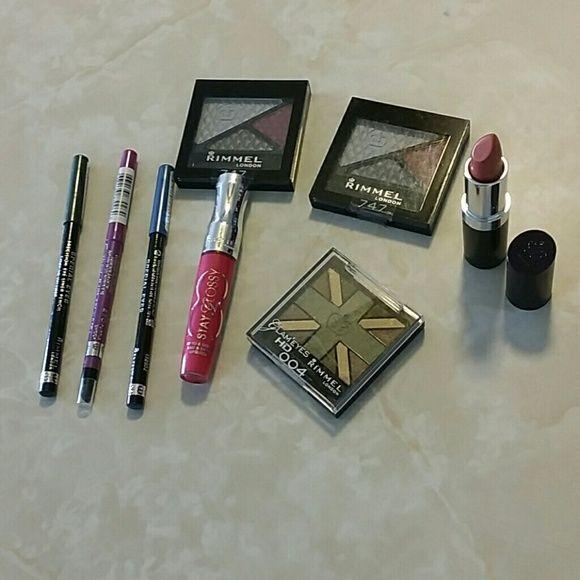 Rimmel Makeup Lot/ Unopened 3 eye shadows, 3 eye pencils, 1 lip gloss and 1 lip stick Rimmel London  Makeup