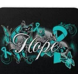 Ovarian Cancer Awareness Ribbons of Hope