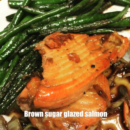 Check out my brown sugar glazed salmon