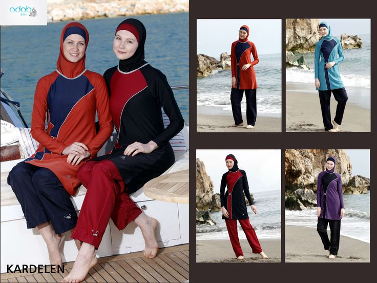 Adabkini Karde Women Boating Diving Swimming Wear Covered Costume for Ladies
