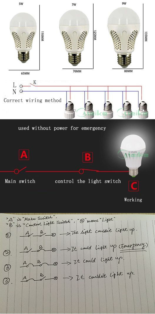 5W E27 Emergency LED Bulb Light