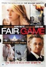 Fair Game Movie Poster 27x40 Used Sean Penn, George W Bush, Condoleezza Rice, Michael Goodwin, Polly Holliday, Iris Bahr, Chet Grissom, Deidre Goodwin, Tim Griffin, Byron Utley, David Warshofsky, Naomi Watts, Remy Auberjonois, David Denman