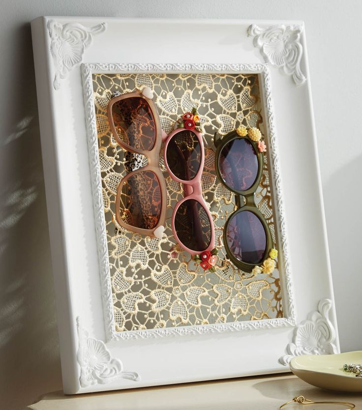 With only three steps from Jo-Ann Fabrics, it's hard to make this upcycled DIY summer sunglass holder any easier to make.