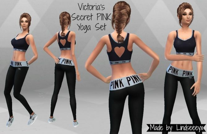 PINK Yoga Set by lindseeeyx at Mod The Sims via Sims 4 Updates