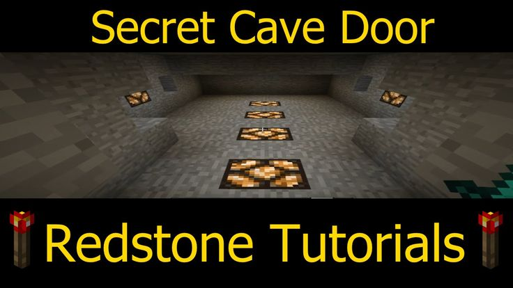 Minecraft Redstone : Secret Door Tutorial