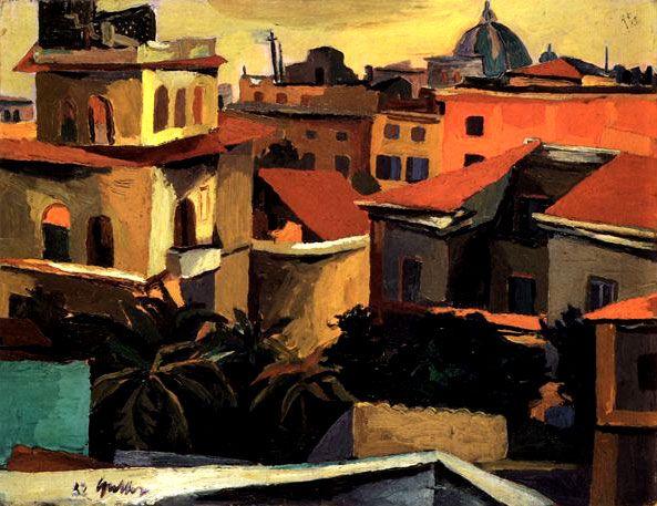 Tetti di Roma - Renato Guttuso