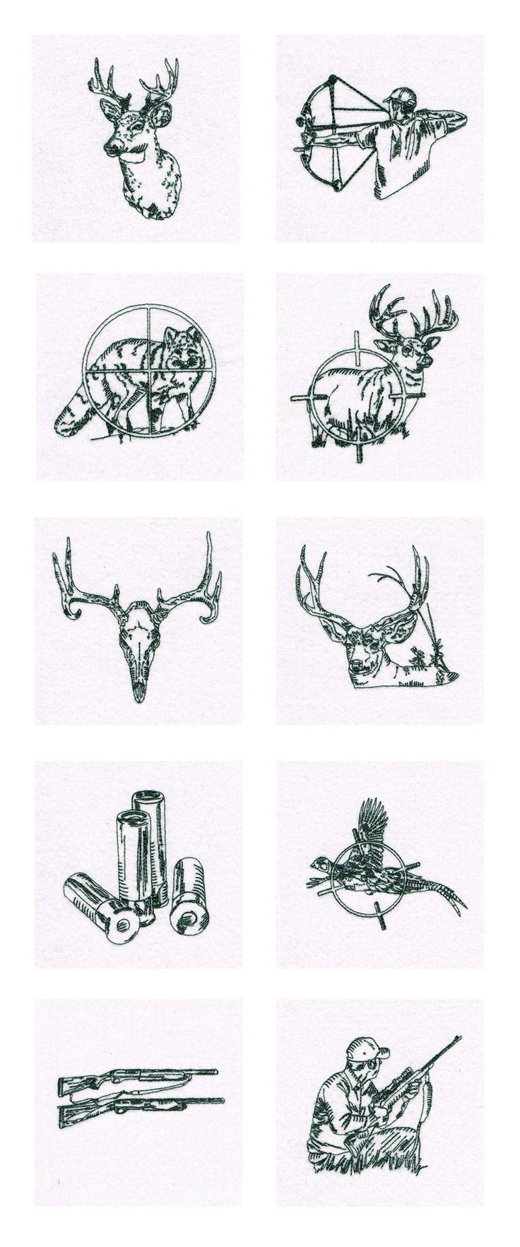 Hunter Redwork Embroidery Machine Design Details