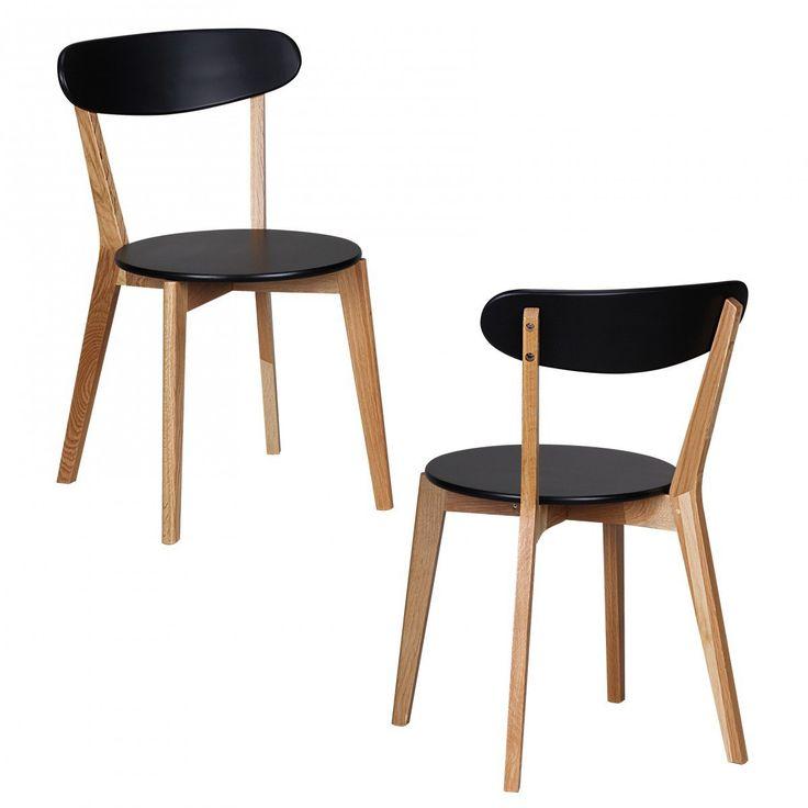 JUSThome Milan Stuhl Eiche/Weiss 79x42x42 Amazonde Küche - stühle für die küche
