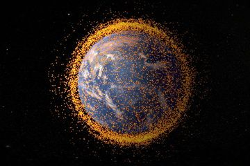 This NASA graphic depicts the amount of space junk currently orbiting Earth. The debris field is based on data from NASA's Orbital Debris Program Office. Image released on May 1, 2013.  Credit: NASA's Goddard Space Flight Center/JSC
