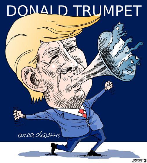The Donald #Trump Show. Today's cartoon by Arcadio Esquivel: http://www.cartoonmovement.com/cartoon/22327