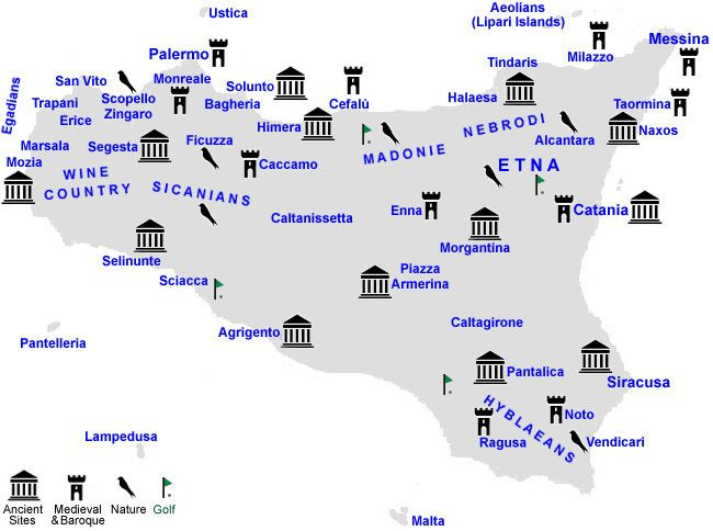 Ancient towns of Sicily | Locality Index - Best of Sicily - Cities and Towns of Sicily - Palermo ...