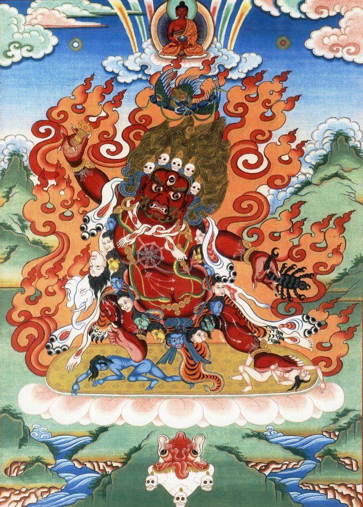 Guru Dragpo.         Wrathful teacher