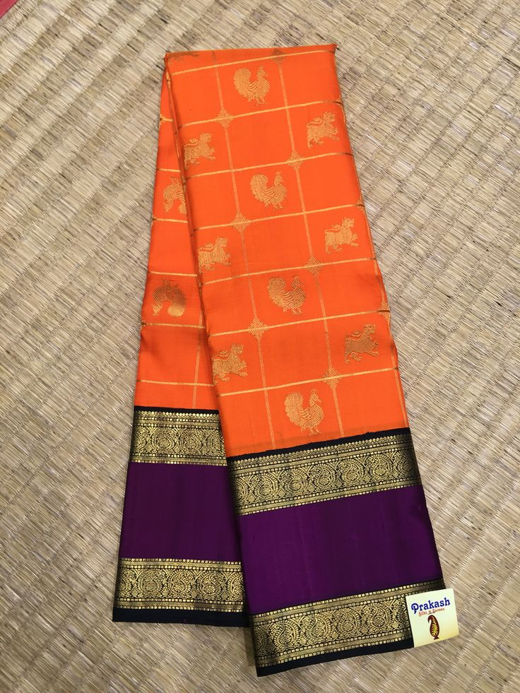 Traditional Kanchipuram sarees from Prakash silks.