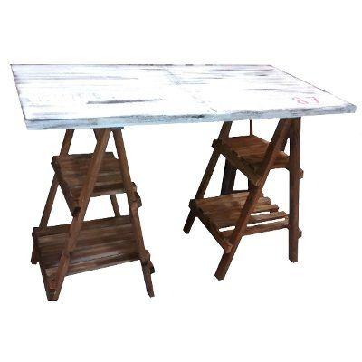 mesa sobre caballete escritorio con caballete mesa caballete