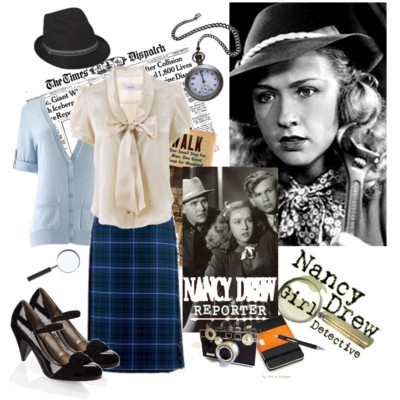 nancy drew costume inspiration