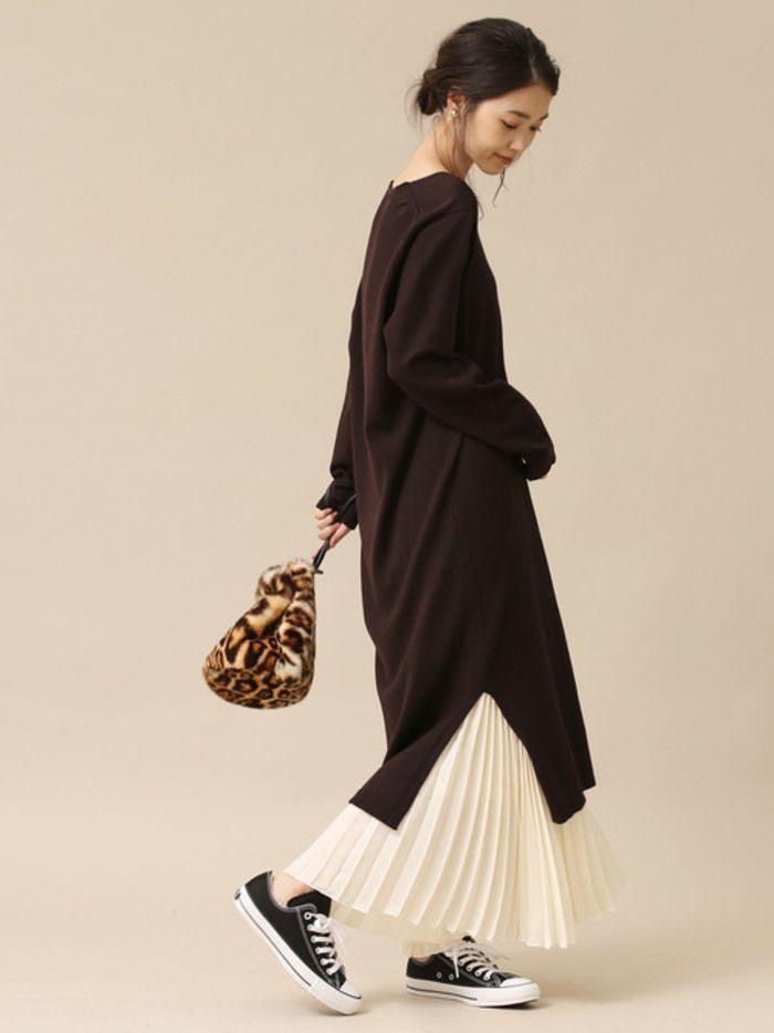 ロングアイテムをルーズに楽しむ 冬の 重ね着 コーディネート キナリノ ファッション ファッションスタイル ファッション レディース