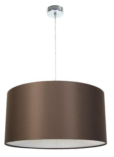 Yvette Pendant in Brown/White/Chrome,Lighting,Beacon Lighting
