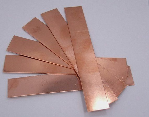 Raw Copper Sheet Bracelet Cuff Blanks 6 X 1 16ga Package Of 6 Copper Sheets Copper Cuff Bracelets