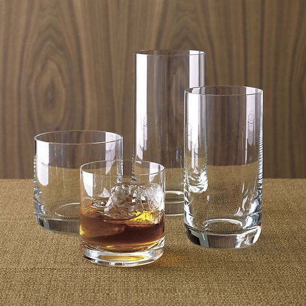 Crescent Glasses in Bar and Drinking Glasses | Crate and Barrel