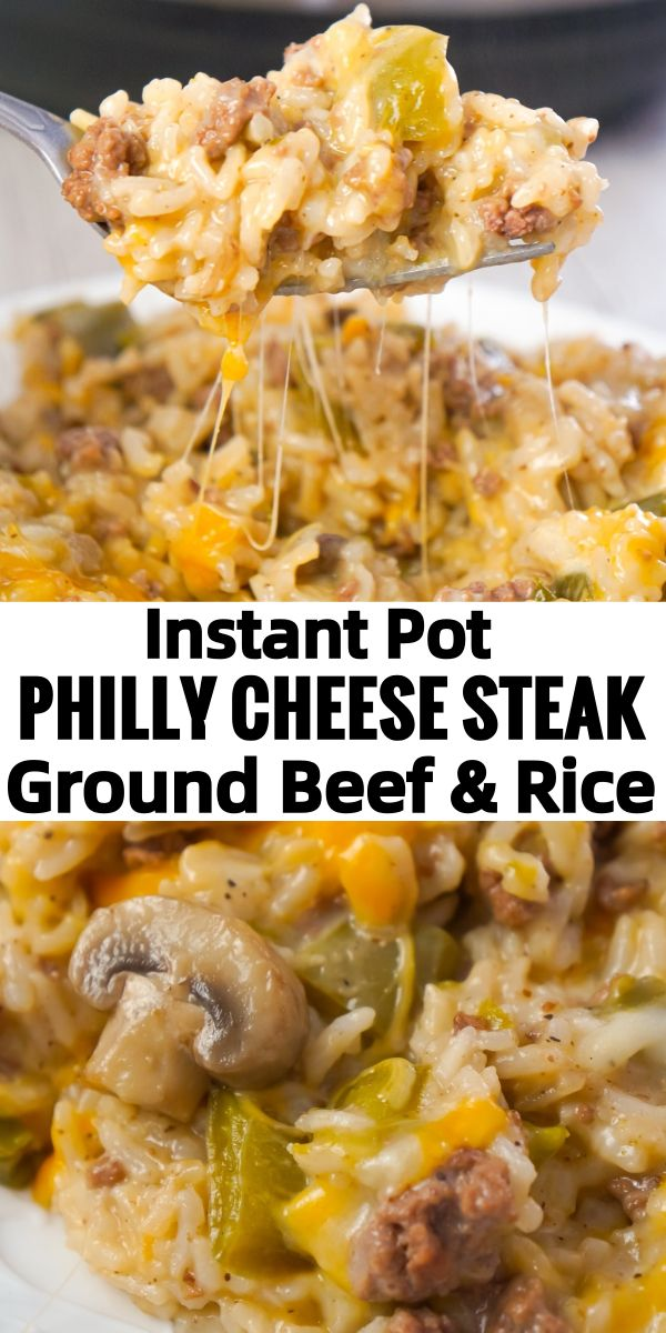 Instant Pot Philly Cheese Steak Ground Beef And Rice In 2020 Instant Pot Dinner Recipes Rice Recipes For Dinner White Rice Recipes