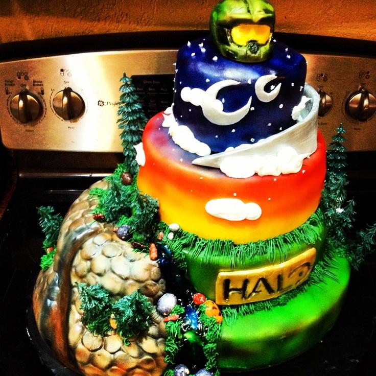 Halo Cake Dans Halo Oarty Pinterest Halo Tier Cake