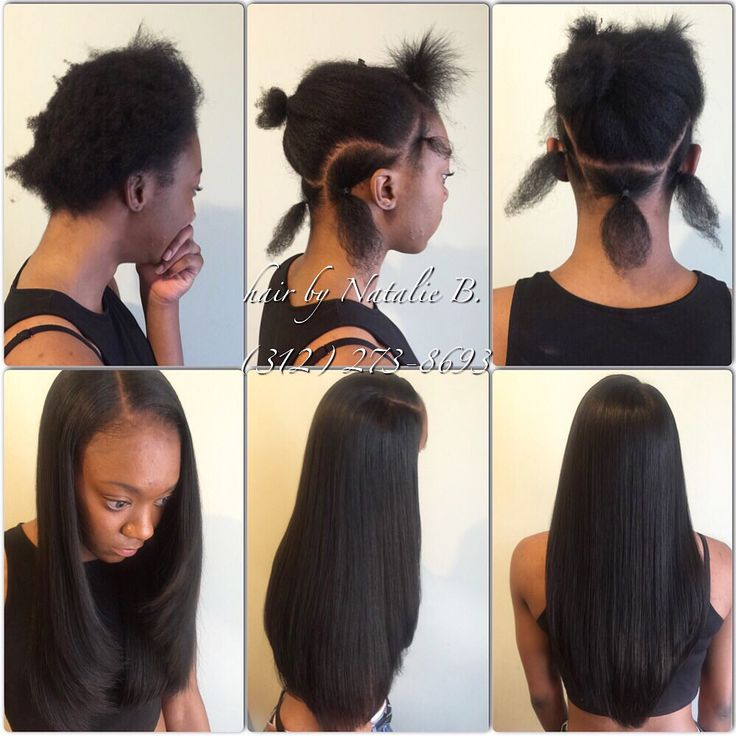 Sew In Hairstyle simple ponytail sew in hairstyles Before Afterflawless Sew In Hair Weaves By Natalie B 312 273