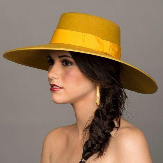 Mustard Yellow Hat. Bolero Hat. 5